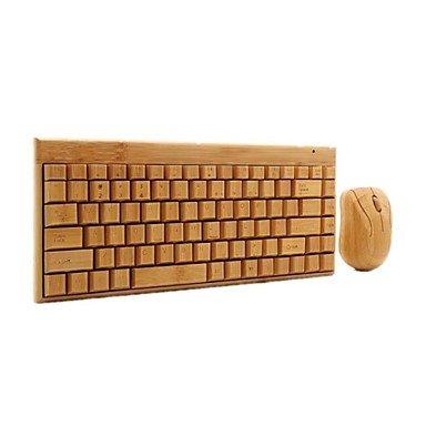 Kabelloses Keyboard/Maus aus Bambus