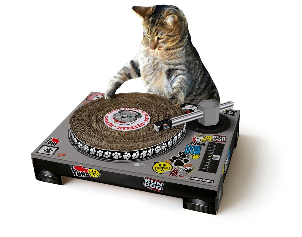 Dj Katzen Scratch/Kratz Turntable