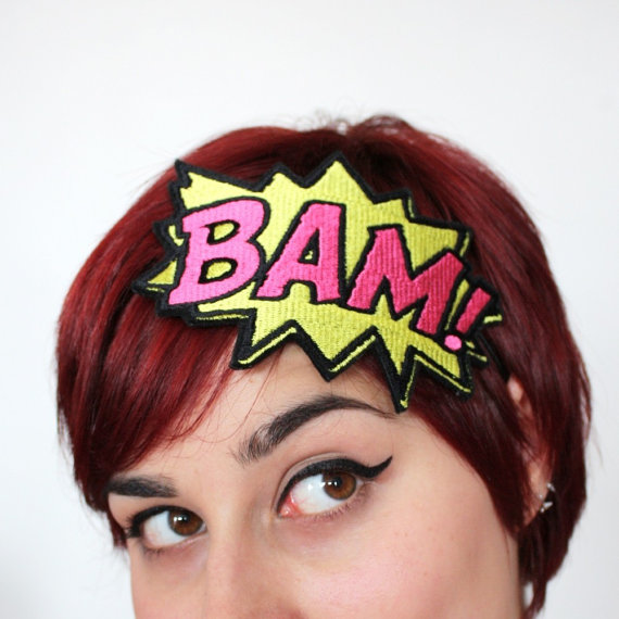 Comic Buch Soundeffekt Haarband