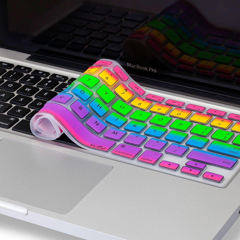 Macbook Regenbogenfarben Silikon Tatstatur Keyboard Schutz Cover