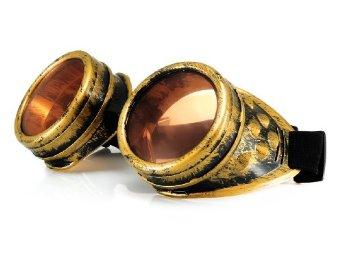 Steampunk Cyber Schutzbrille mit Spikes oder ohne