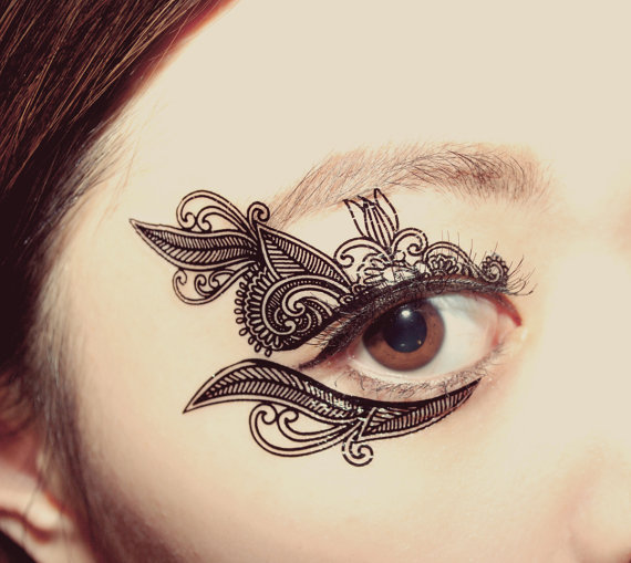 temporäres_Augen_tattoo