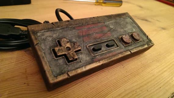 NES_steampunk_retro_controller