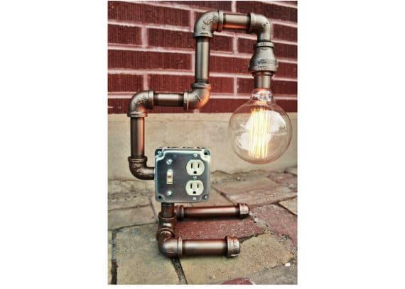 Steampunk_tischlampe