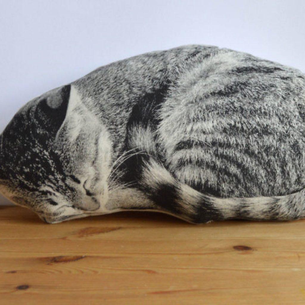 kissen schlafende katze darumbinichblank. Black Bedroom Furniture Sets. Home Design Ideas