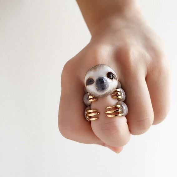 3-Teiliges Faultier Ringset / 3 Piece Sloth Ring Set