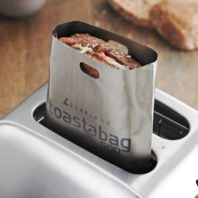 toastbag überbackener Toast im Toaster