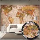 Vintage Weltkarte Wandtapete