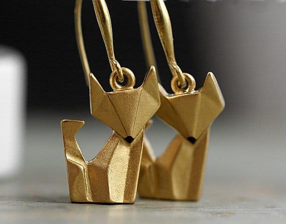 Fuchs Origami Kette Schmuck