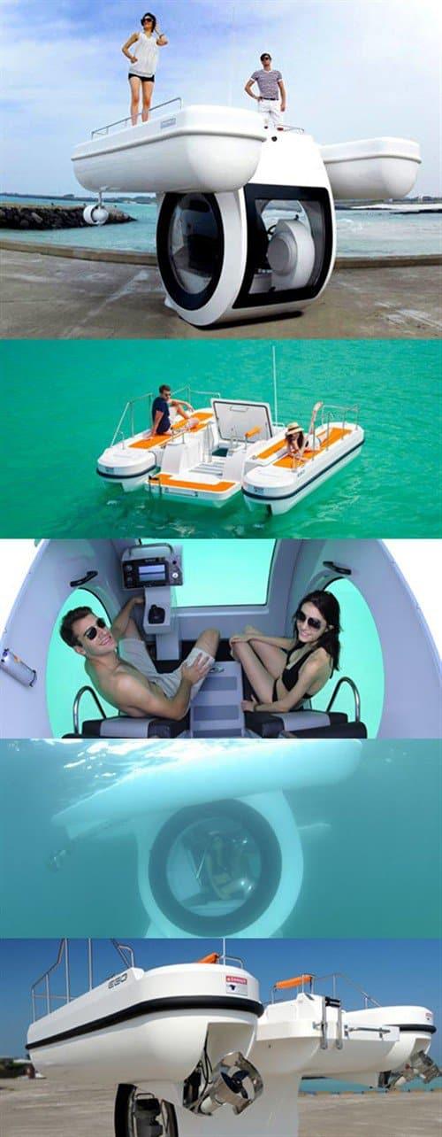 Boot mit integriertem U-Boot