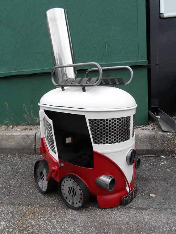 VW Campervan Kombi Grill und Holzofen