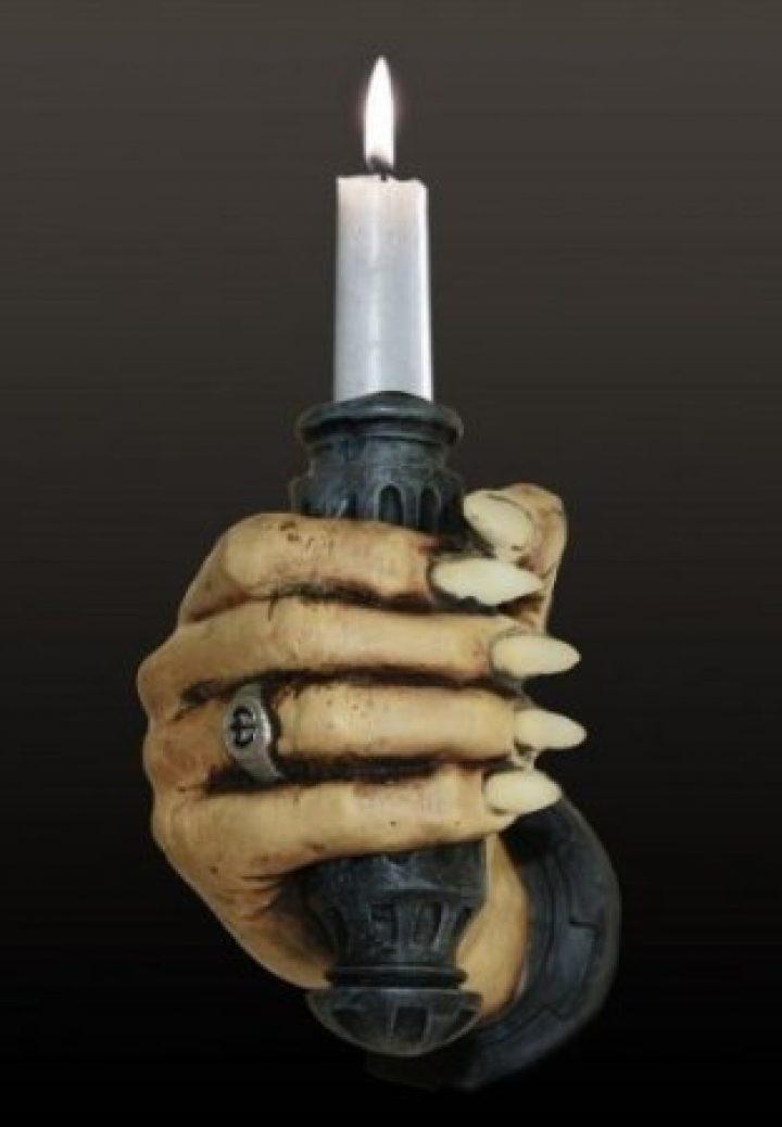 Hand-Wandkerzenhalter