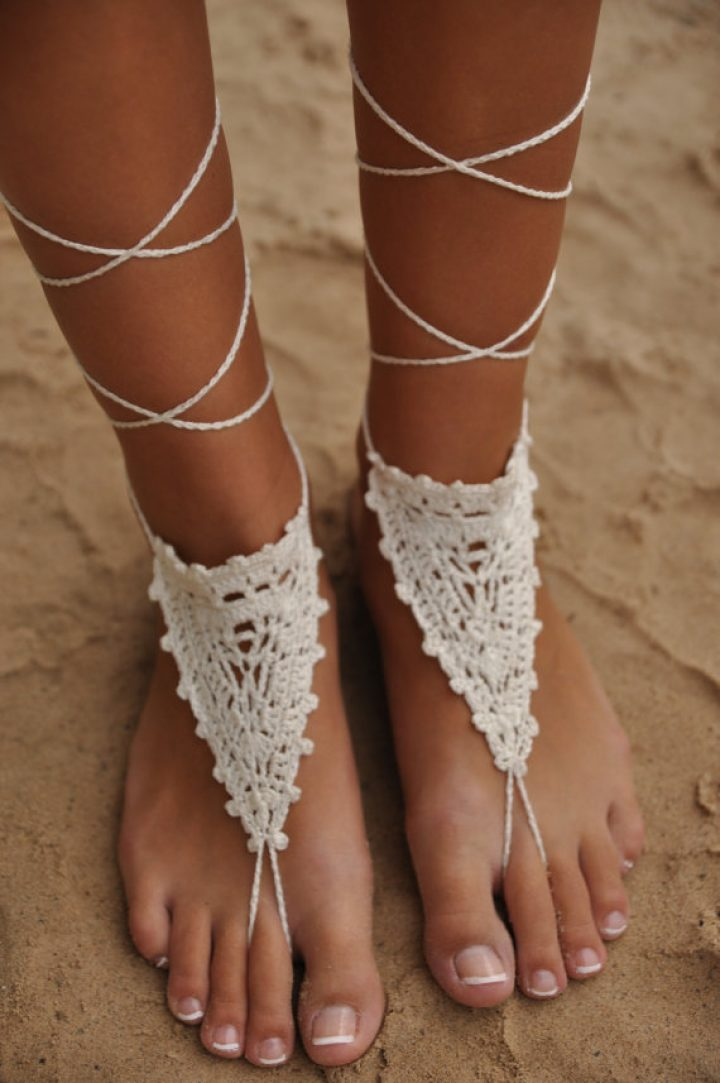 Ivory Barfuß Sandalen