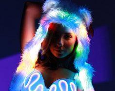 Leuchtende Bären Kapuze