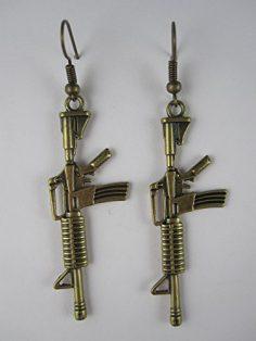 Maschinengewehr Ohrringe M-16