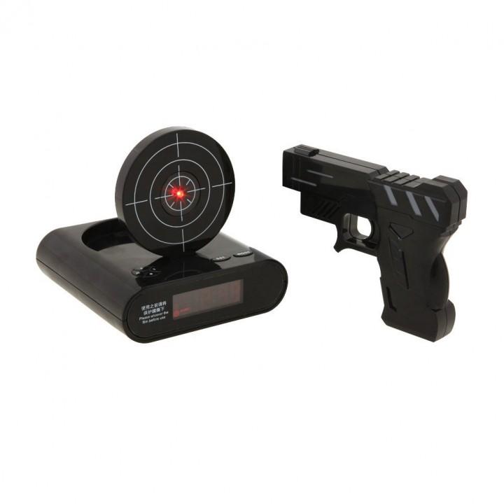 Zielscheiben Wecker mit Pistole