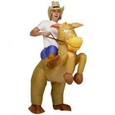 Aufblasbares Pferde und Cowboy Kostüm