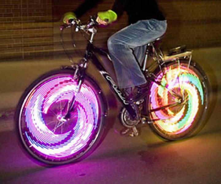 Leuchtende Fahrradspeichen