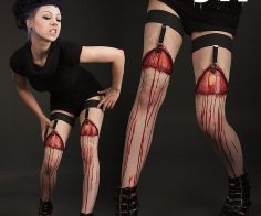 Blutende Wunde Sockenhalter