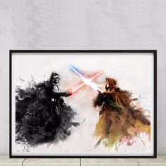 Star Wars Darth Vader Obiwan Posterdruck