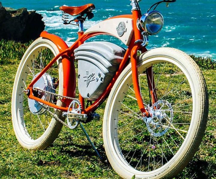 Elektrisches Vintage Fahrrad