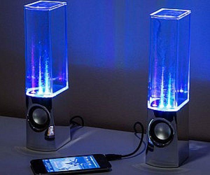 Leuchtende Wassershow Lautsprecher