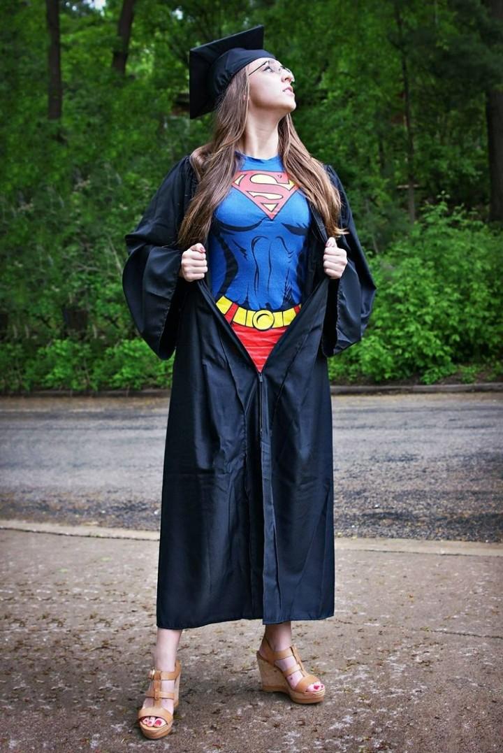 Super Girl T-Shirt Kostüm