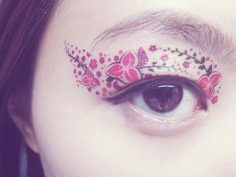 Temporäres Augentattoo