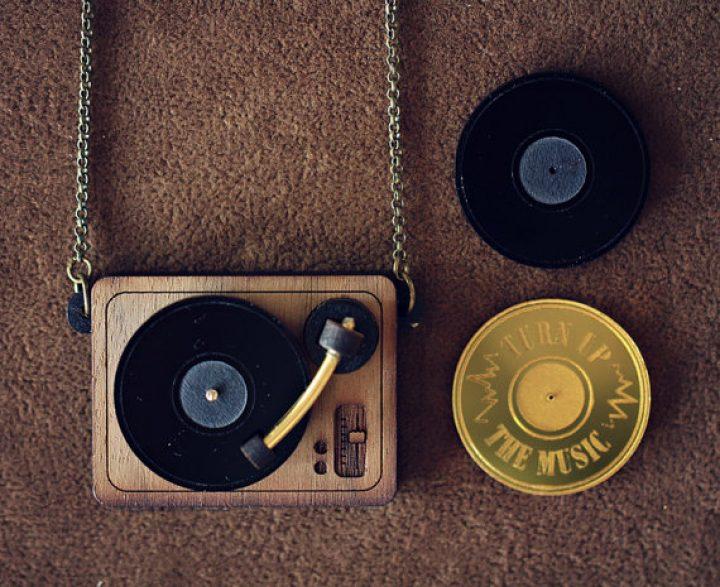 DJ Turntable Halskette